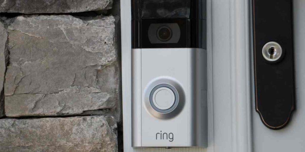 Ring video Doorbell fixed at door