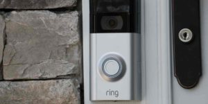 Ring Doorbell alarm fixed at door