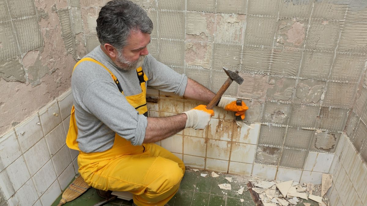 old tile removing