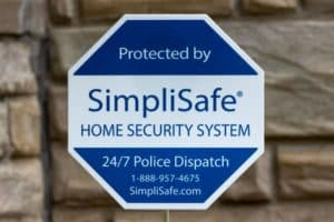 simplisafe badge in lawn
