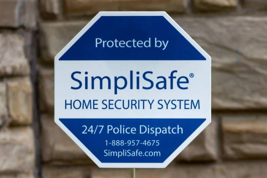 simplisafe badge in lawn