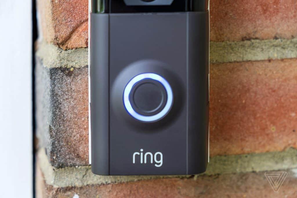 white light on Ring