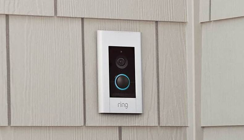 Ring ELite positioned at front porch